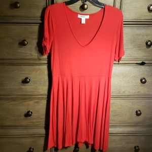 Red Skater Dress Size 0X Forever 21+